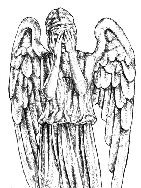 Doctor Who Coloring Pages Weeping Angels | free dr who weeping angel coloring pages