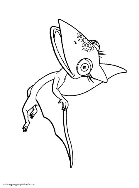 Tiny Flying Coloring Page Tiny Coloring Pages