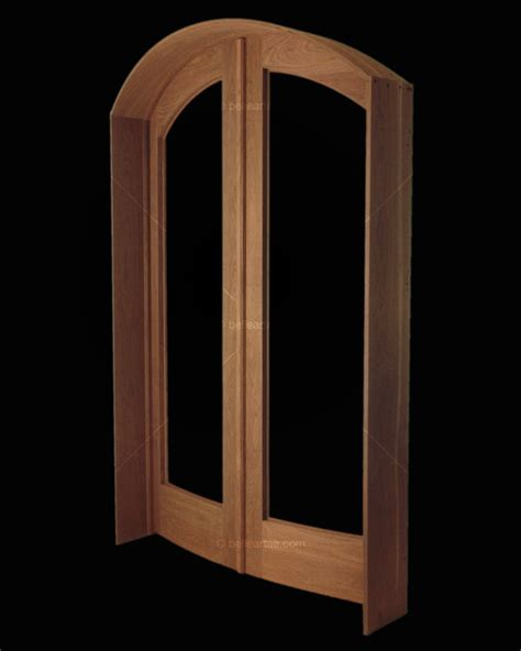 Arched Curved Walnut Doors Transitional Interior Doors Curved Interior Doors