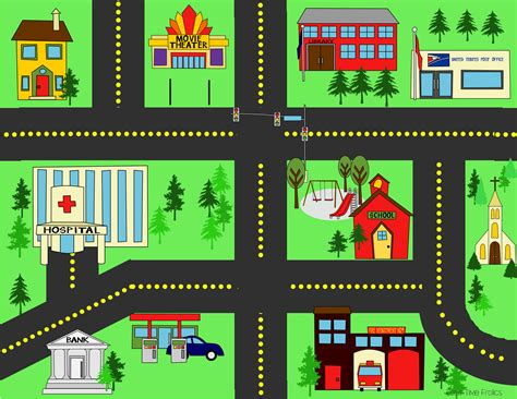 printable road play mat city streets playmat city streets street and free time
