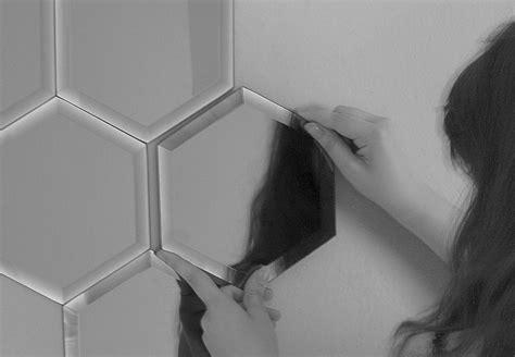 Spiegelfliese 20x20 by Miroir Mirrorize Hexagone 20x20 Cm Set De 18 Pi 232 Ces