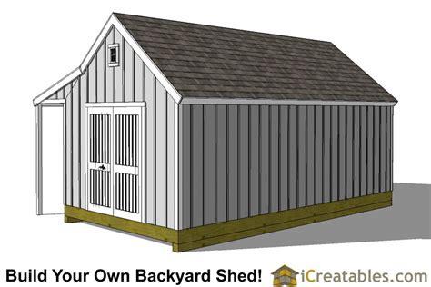 cape  shed  porch plans icreatables