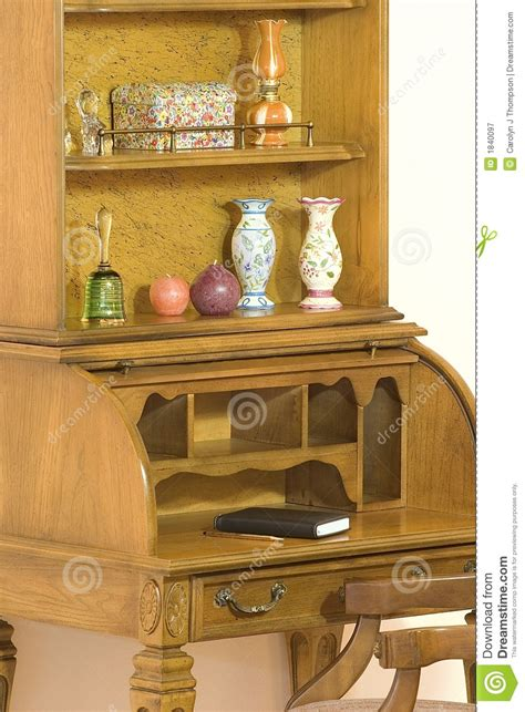 roll top desk with hutch roll top desk with hutch stock image image of bell