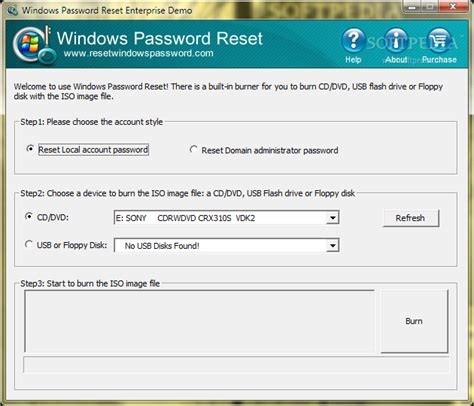 resetting windows ce password windows password reset enterprise download