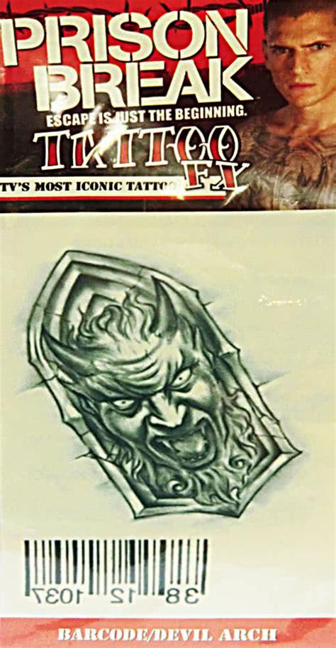 barcode tattoo satanic prison break tattoo devil with barcode adhesive decals