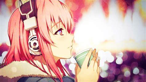 anime girl drawing wallpaper anime headphones wallpaper anime wallpapers pinterest