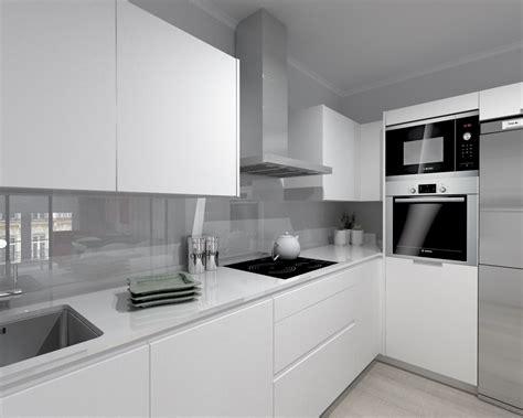 encimeras de cocina compac cocina santos modelo line estratificado blanco encimera