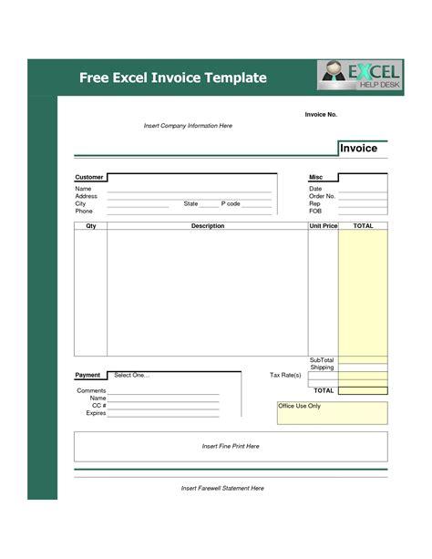 Excel Template Invoice Invoice Template Ideas Commercial Invoice Template Excel Free