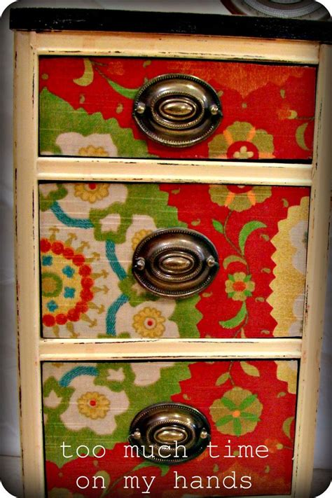 fabric decoupage dresser decoupage fabric onto furniture swoon diy