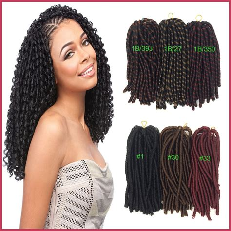 dread extensions for black women freeship 1pc 14inch 35cm synthetic long curly nina soft