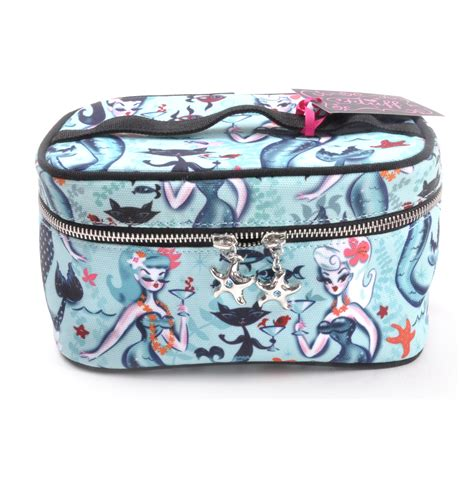 martini mermaid martini mermaid cocktails vanity train case by fluff