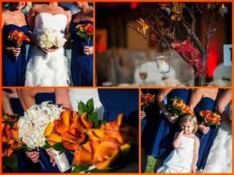 navy blue and orange wedding theme blue and orange wedding colors salem waterfront hotel