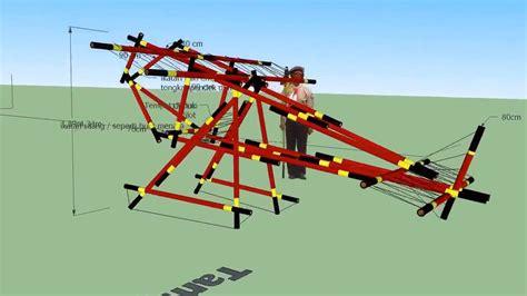 lomba desain jembatan lomba pionering pramuka 35 tongkat pesawat amphibi 3rd
