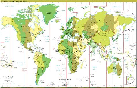 world cities time zone map time zone map