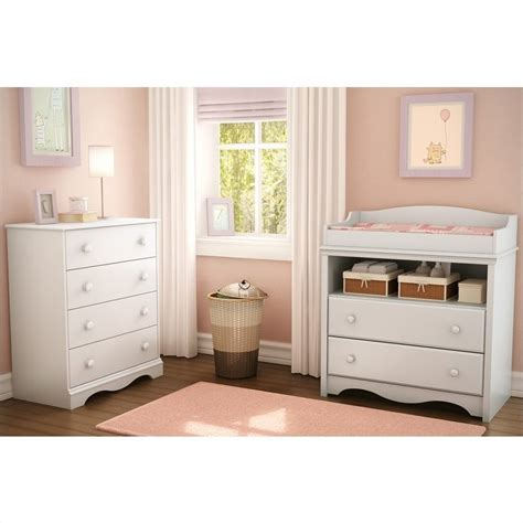 South Shore White Changing Table South Shore Andover Changing Table In White 3680331