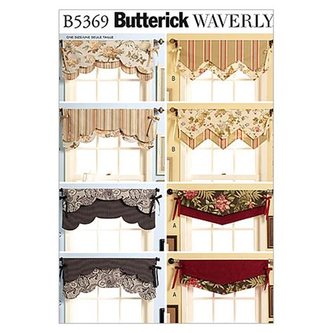 Easy Valance Patterns butterick fast easy reversible valances pattern b5369