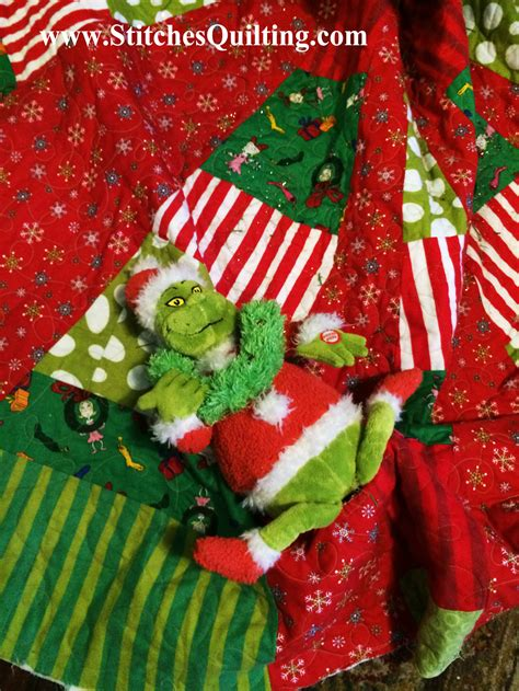 beginning of a grinch christmas stitches quilting