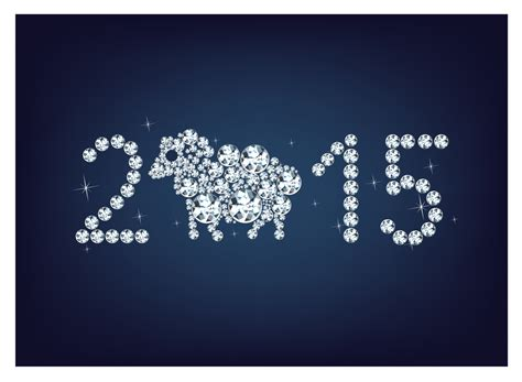 new year greeting card 2015 happy new year 2015 creative greeting card free vector
