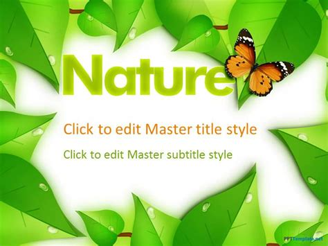 presentation themes nature free nature ppt template