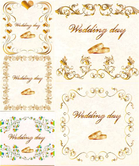 wedding card free design gold vector graphics page 5