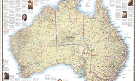 scale map of australia australian geographic places nature culture