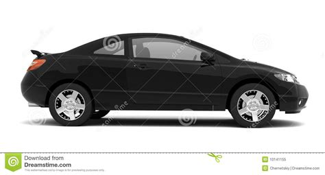 small cars black compact black car side view royalty free stock photo