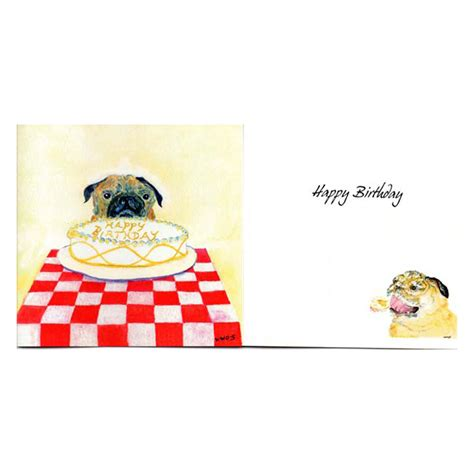 happy birthday pug card happy birthday pug card the pug welfare rescue association