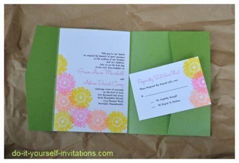 diy gerbera wedding invitations - Diy Gerbera Wedding Invitations