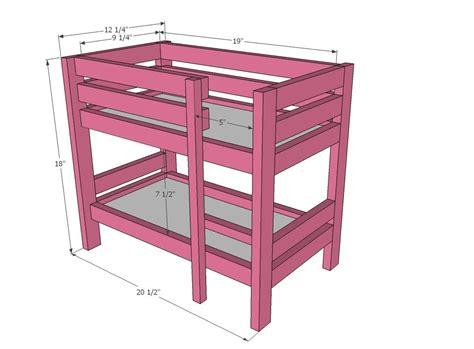 doll bunk beds  pinterest
