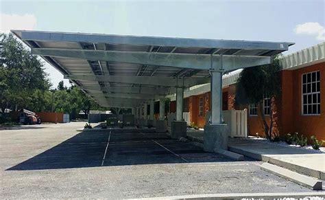 large span carport pv carports  compromising  parking lot functionality