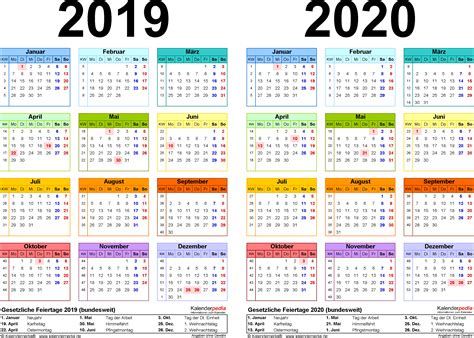 Kalender 2019 Zum Ausdrucken Kalender 2019 Mit Feiertagen Und Kalenderwochen