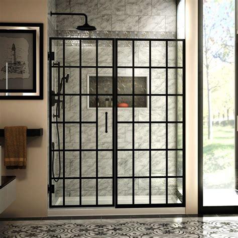 Dreamline Unidoor Toulon 58 58 1 2 In W X 72 In H Black Shower Door