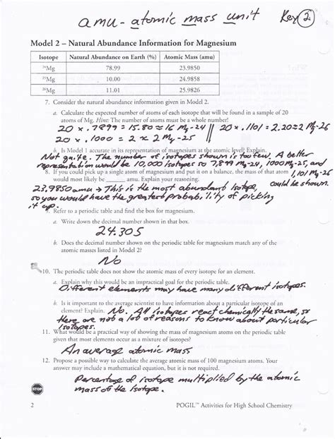 Average Atomic Mass Worksheet Pogil by Gas Variables Pogil Answer Key Things To Wear