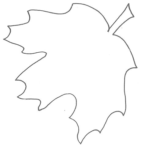 printable leaf template maple leaf stencil printable clipart best