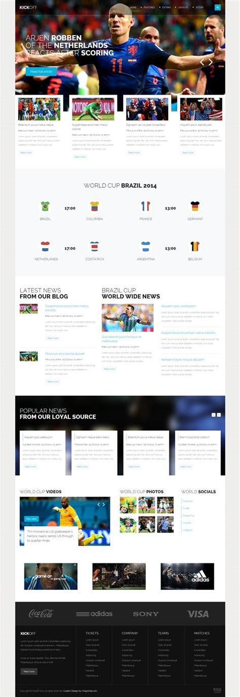 joomla category blog layout template kickoff joomla sports magazine template
