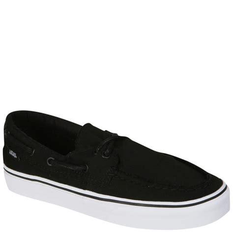 vans deck shoes vans zapato barco canvas deck shoes black true white