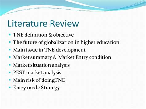 Literature Review Service Quality In Higher Education Institutions In Malaysia by Transnational Marketing Strategy For New East Asia Market 2012