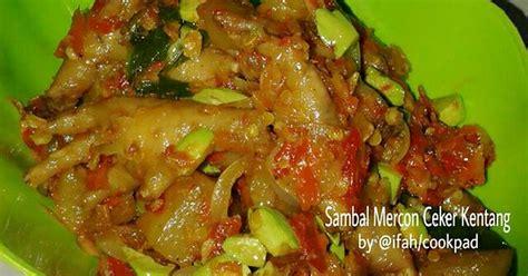 resep sambal mercon ceker kentang oleh dish by ifah cookpad