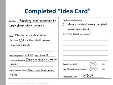 safety suggestion card template completed idea card 169 2012