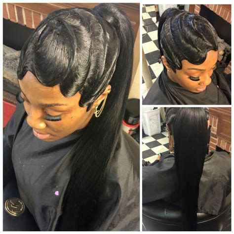 black hairstyles ridges waves and ponytail on fleek curls buns braids bobs