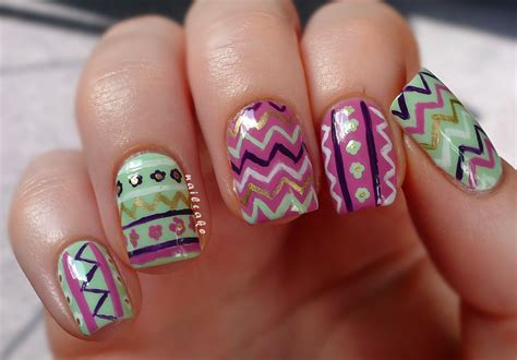zig zag pattern nails nail cake zig zags floral tribal mish mash
