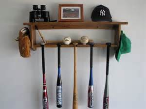 baseball bat rack decorative wall shelf display 5 bats