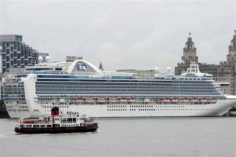 princess cruises from liverpool giant cruise ship ruby princess returns to the river
