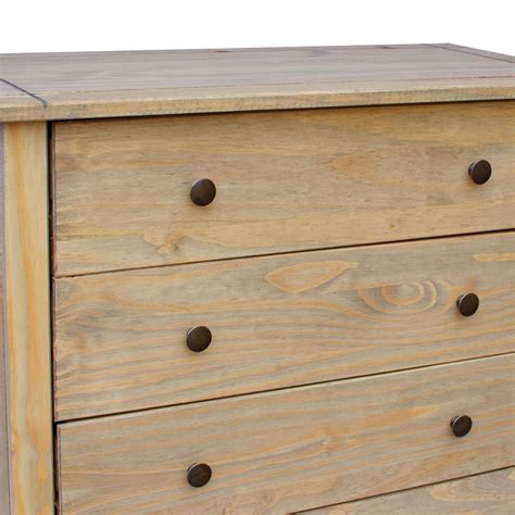 unfinished pine bedside corona panama chest of drawers bedside bedroom mexican