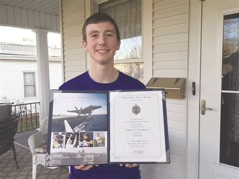 Excuse Letter For Rotc Kreipe Accepted Into Naval Academy Enquirer Democrat