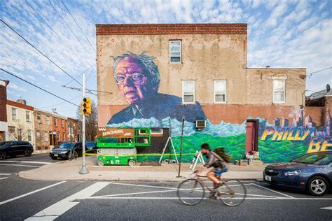 Wwe Wall Mural bernie sanders mural rises in graduate hospital area