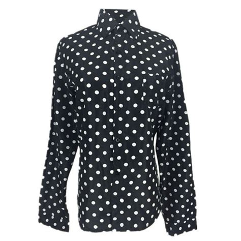 Polka Dot Chiffon Sleeve Top 2016 new casual chiffon tops sleeve polka dot