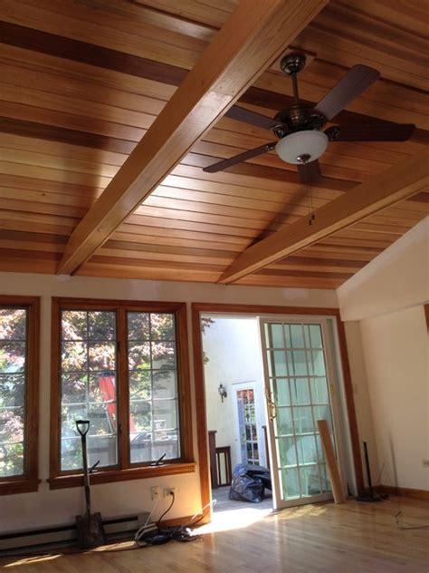 cedar ceiling traditional family room boston