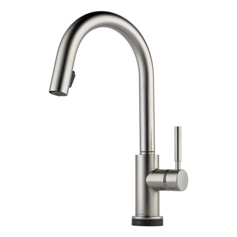 brizo solna kitchen faucet faucet 64020lf ss in brilliance stainless by brizo