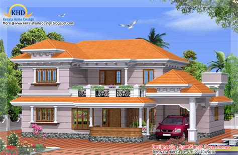 exterior collections kerala home design 3d views of